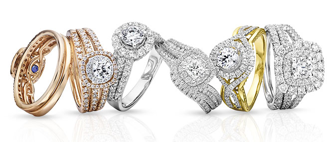 JC Penney modern bride rings
