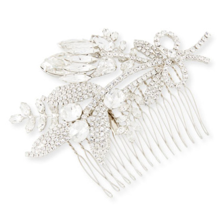 Jennifer Behr Crystal Flower Leaf comb