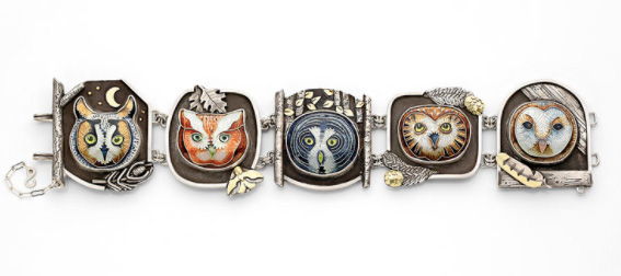 Jill Tower owl bracelet Saul Bell Design Award