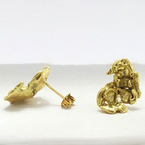 Lori Kaplan 18k popcorn earrings