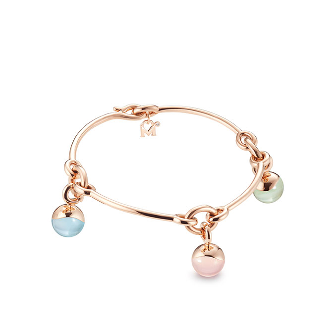 M Monroe Aura triple charm bracelet