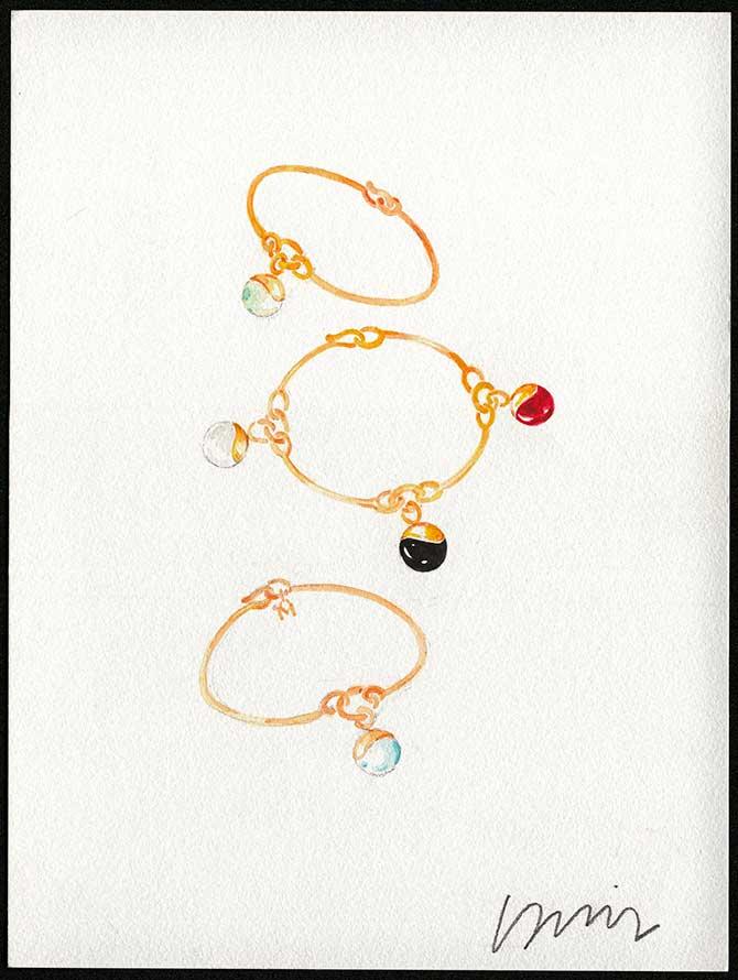 M Monroe Aura charm bracelets rendering