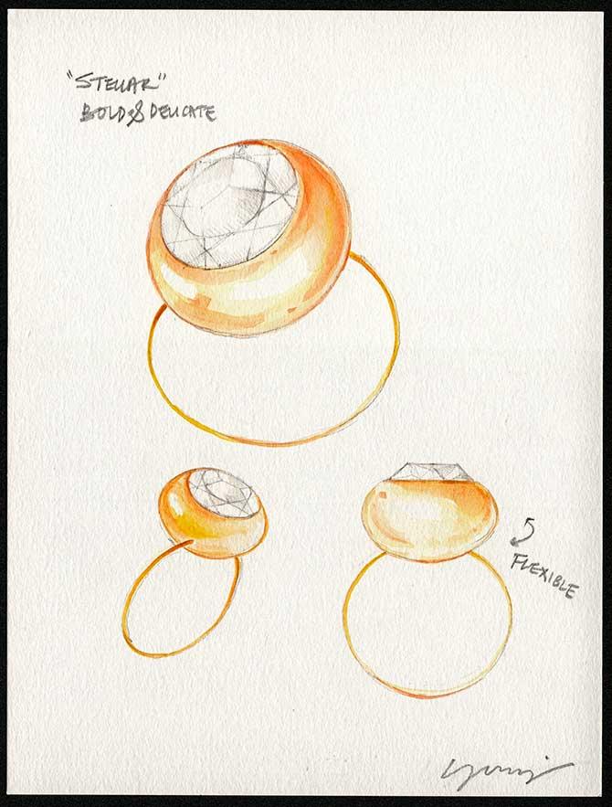 M Monroe Stellar Ring Rendering