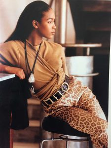 Margaret Ellis Mesh Bag Editorial Glamour 1988