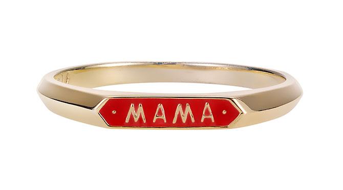 Nora Kogan enamel Mama ring