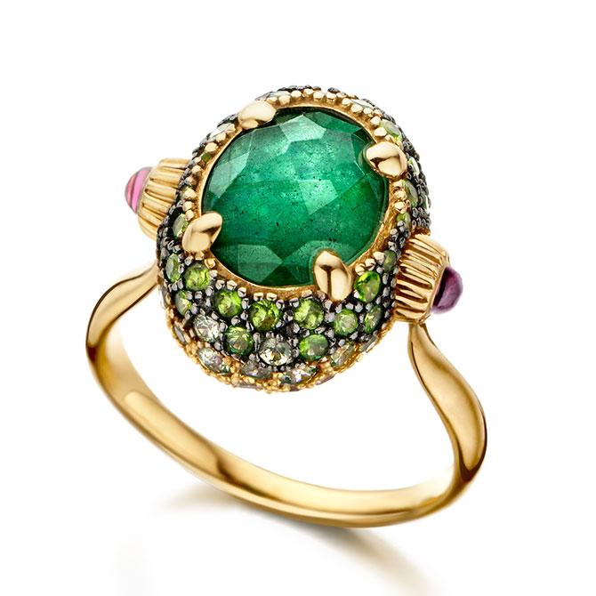 Nanis Italian Jewels Flower Bouquet Reverse ring