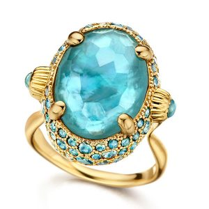 Nanis Italian Jewels Ocean Blue Reverse ring