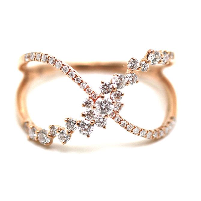 Tresor crisscross diamond ring