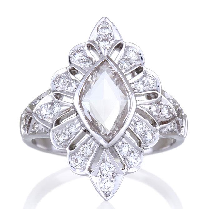 Sethi Couture Heritage rose-cut diamond ring