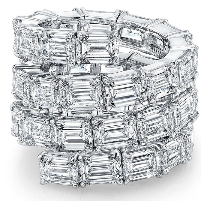Norman Silverman emerald-cut diamond ring