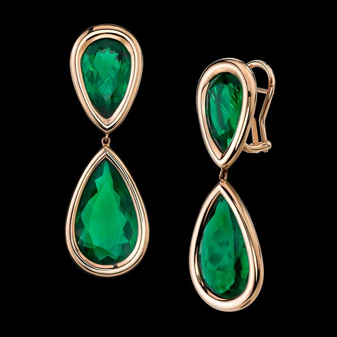 Robert Procop Angelina Jolie emerald earrings