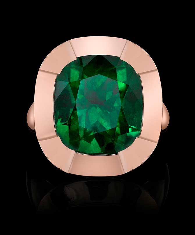 Robert Procop Angelina Jolie emerald ring