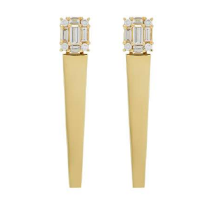 Clarity gold icicle earrings