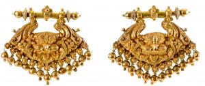 Gold ear ornaments