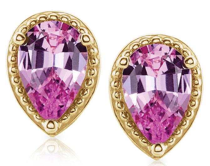 Stuller pink sapphire studs