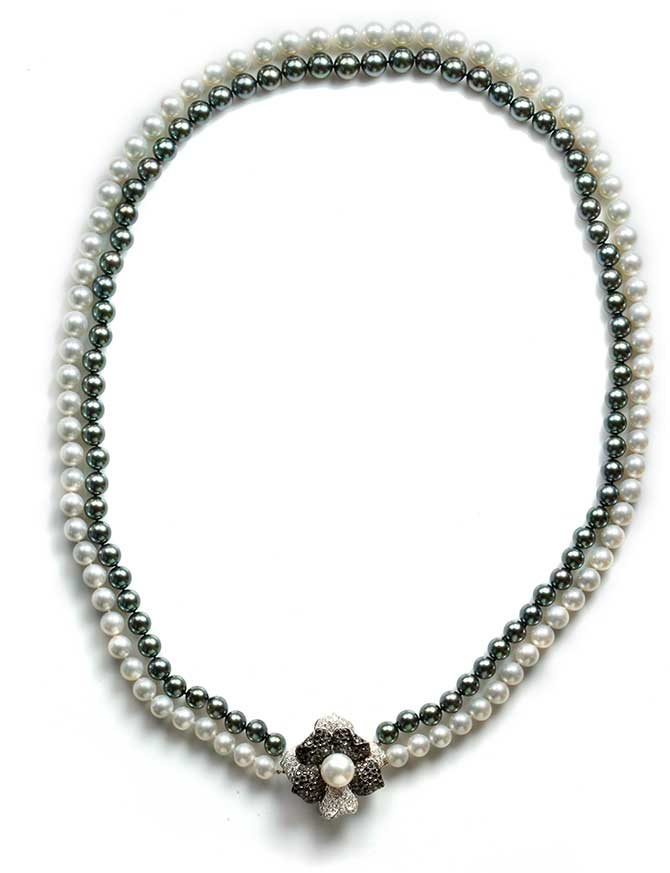 Tara Pearls Museum Collection Double Strand Necklace