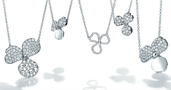 Tiffany Paper Flowers necklaces
