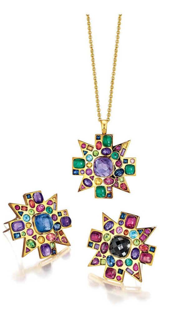Verdura Byzantine Necklace Pendant Brooches