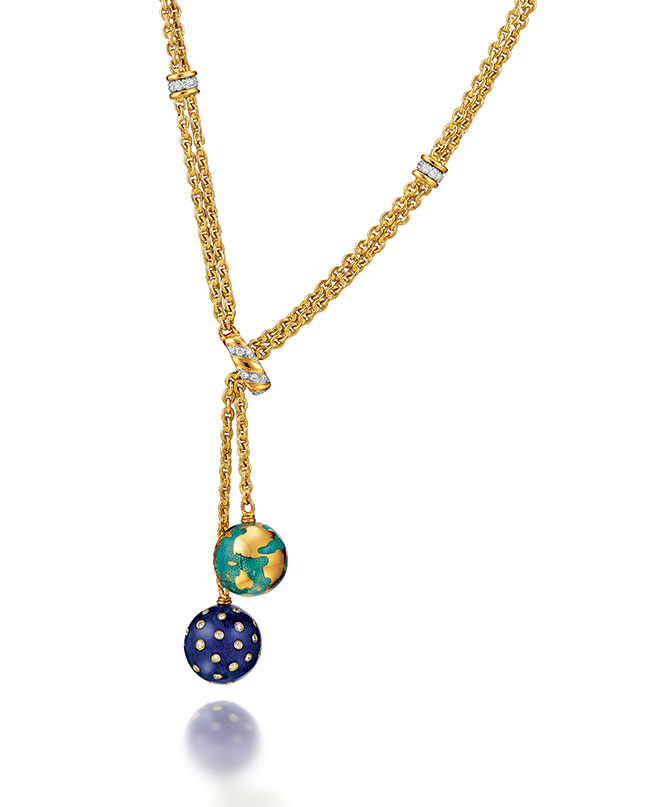 Verdura Night and Day Lariat Necklace