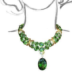 Verdura Peridot X Necklace