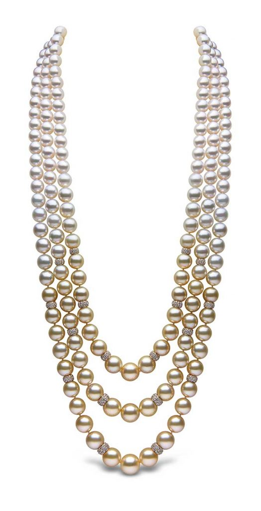 Yoko London Ombre Golden Pearl Necklace