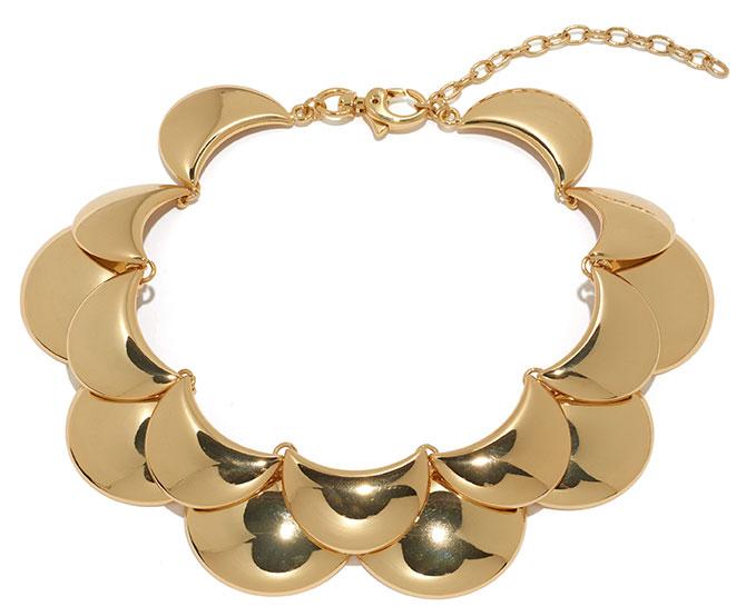 lele sadoughi gold necklace