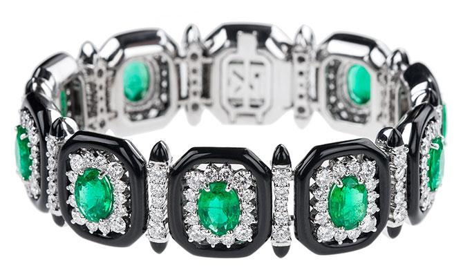 nikos koulis Oui emerald bracelet