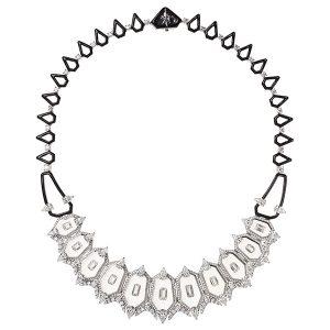 nikos koulis diamond enamel necklace