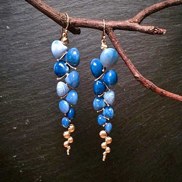 rachel atherley peruvian blue opal earrings