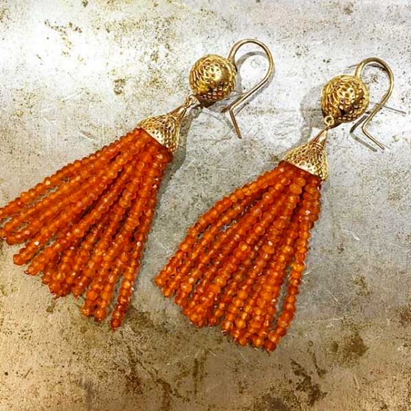 ray griffiths tassel earrings