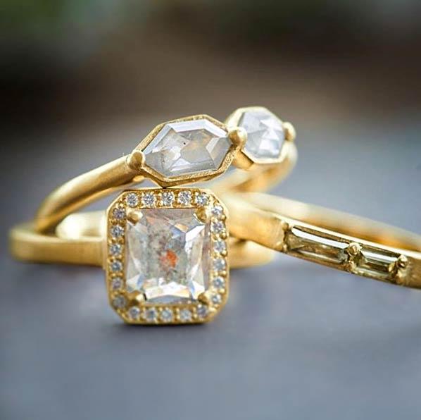 rebecca overmann diamond ring stack