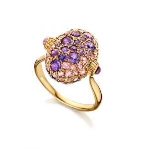Reverse Ring Flower Bouquet Nanis Italian Jewelers