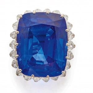 Sothebys sapphire diamond ring