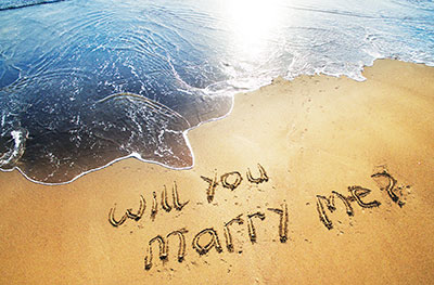 will you marry me on beach