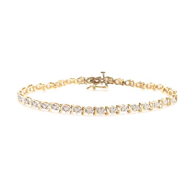 10k gold and diamond bracelet