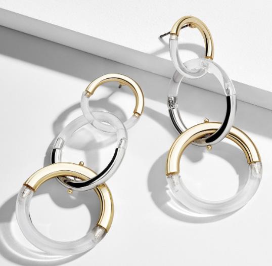 BaubleBar Lucite earrings