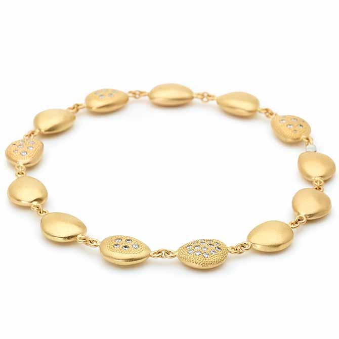 Anne Sportun gold Petal bracelet
