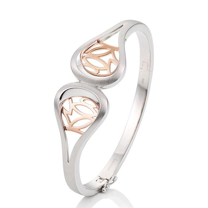 Breuning two-tone silver bracelet