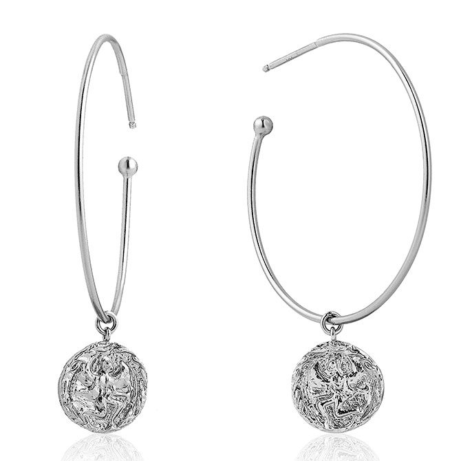 Ania Haie Coins hoop earrings