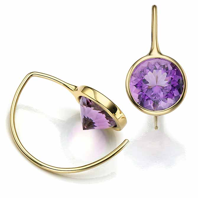 Toby Pomeroy amethyst earrings