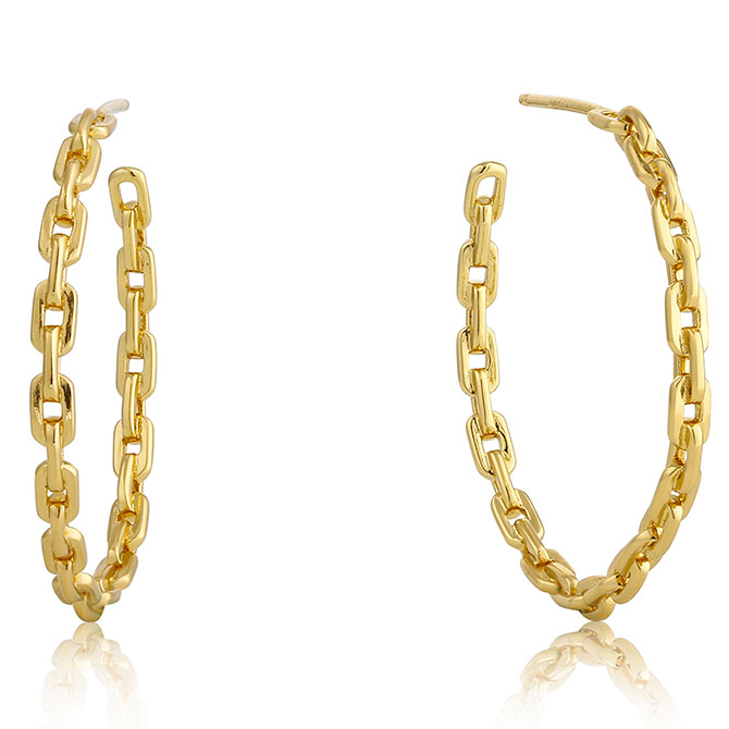 Ania Haie Links chain hoop earrings