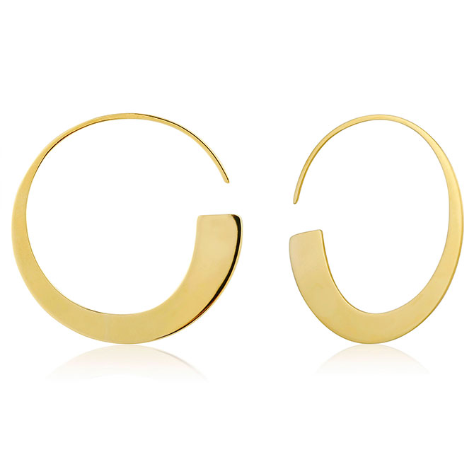 Ania Haie Geometry Class hoop earrings
