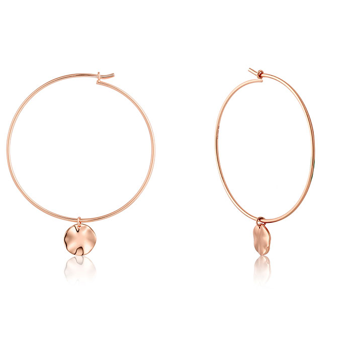 Ania Haie Texture Mix hoop earrings