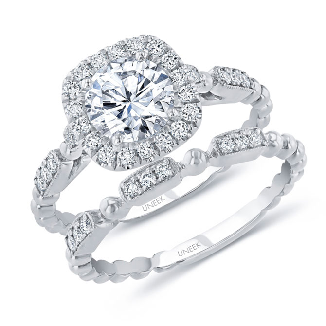 Uneek diamond wedding set