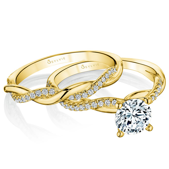Sylvie Collection Yasmine engagement ring set