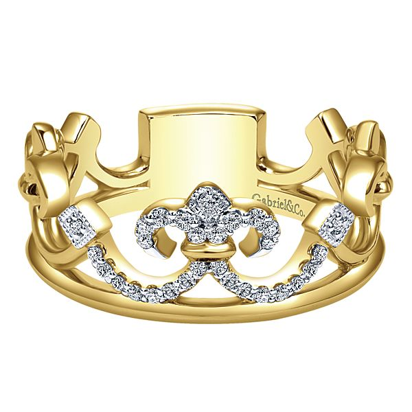 Gabriel NY Crown stackable ring