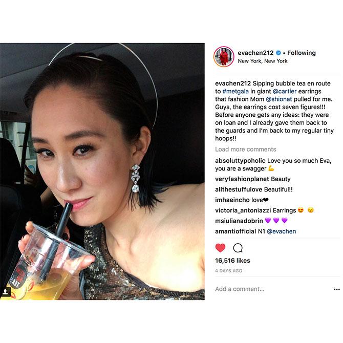Instagram MetGala EvaChen