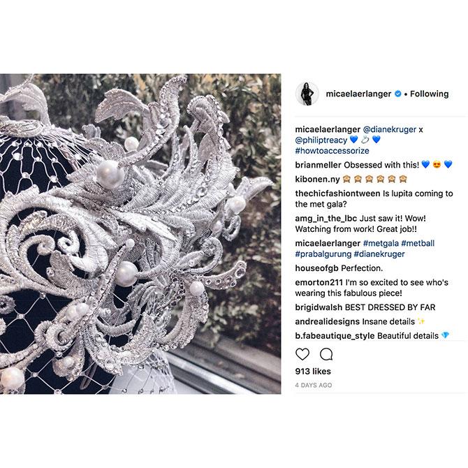 Instagram MetGala Micaela