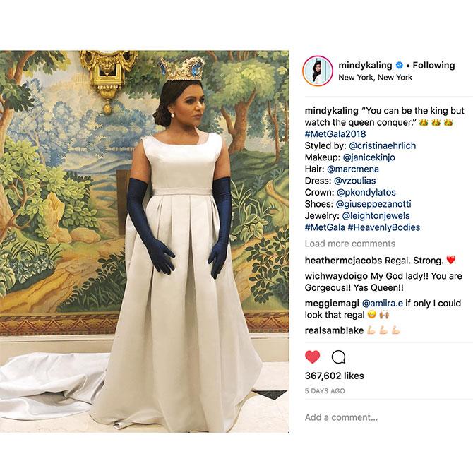Instagram MetGala MindyKaling