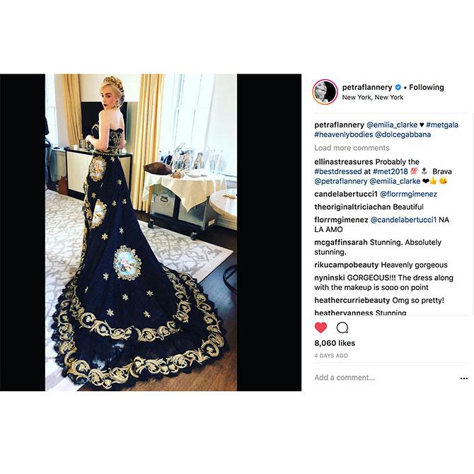 Instagram MetGala Petra